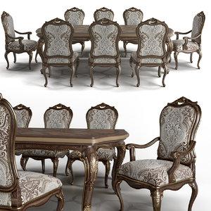 carson aria dining chair 3D