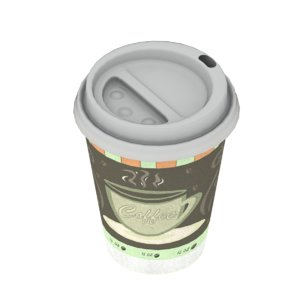 disposable coffee cup 3D