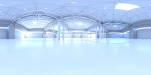 Exhibition Hall HDRI Map White