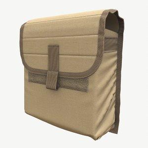 cloth ammunition pouch 3D