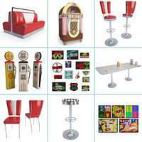 furniture american diners 3D