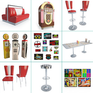 furniture american diners 3D