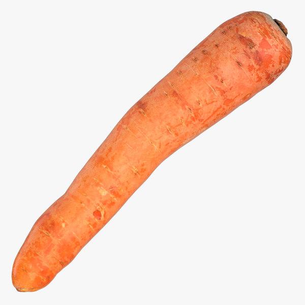 3D carrot 03 model