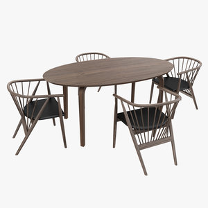 3D gretchen dining chair model