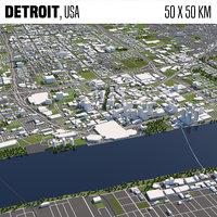 Detroit 50x50km