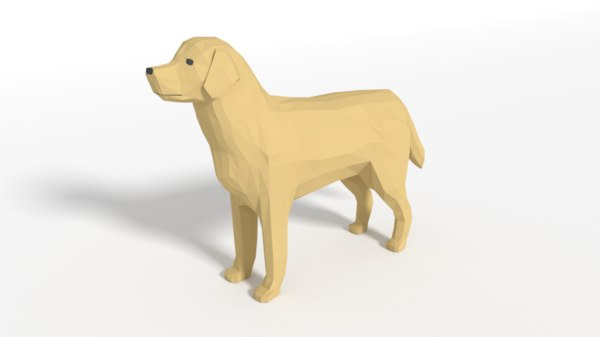 3D labrador dog model