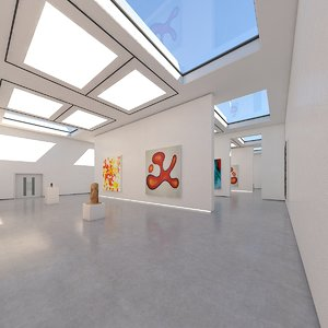 art gallery interior 3D model