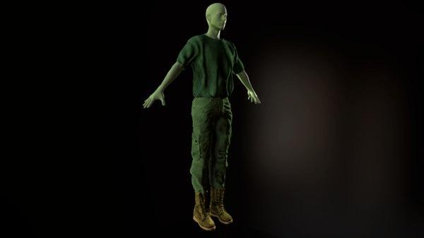 3D clothing set
