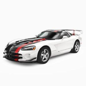 3D dodge viper srt 10 model