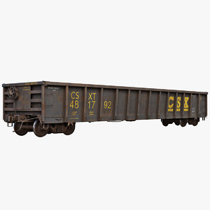 coal gondola e534 3D