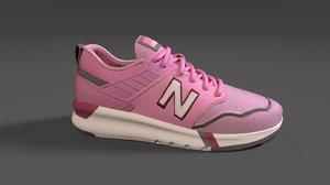 3D sneaker nike women model