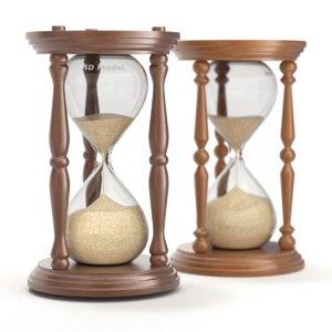hourglass pillars wood 3D model