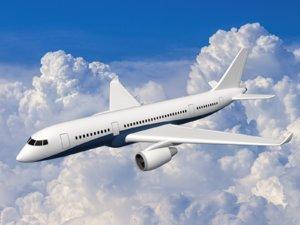 3D model airplane plane aircraft