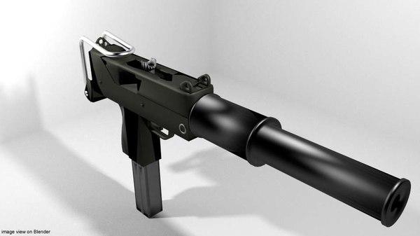 m-10 suppressor 3D model