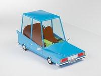 cartoon 1970 car