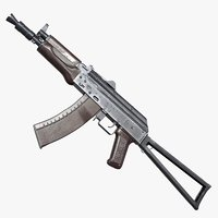 ak-74u rifle ready asset model