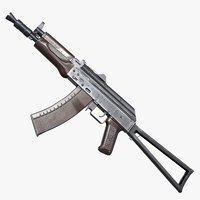 AK-74U AAA FPS Game Ready Weapon Asset