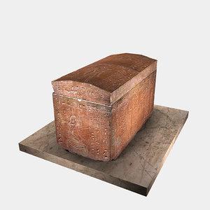 realistic sarcophagus 3D