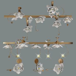 lure chandelier pelle 3D model