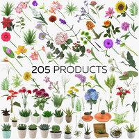3D botanical - 205 products model