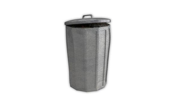 3D rubbish bin trash model