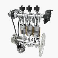 petrol engine interior 3D model