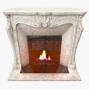 3D fireplace place