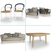 arc set furniture armchair sofa model