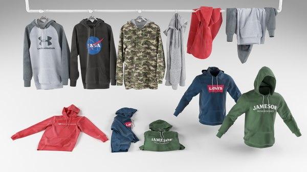 hoodie hanger clothing 3D
