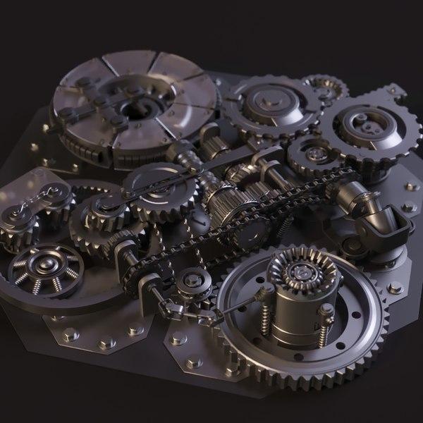 3D model animation mechanism