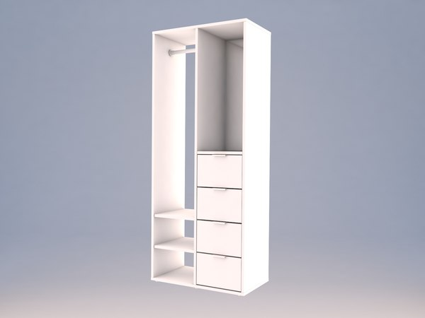 opened interior wardrobe sundlandet 3D model