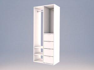 opened interior wardrobe sundlandet 3D model