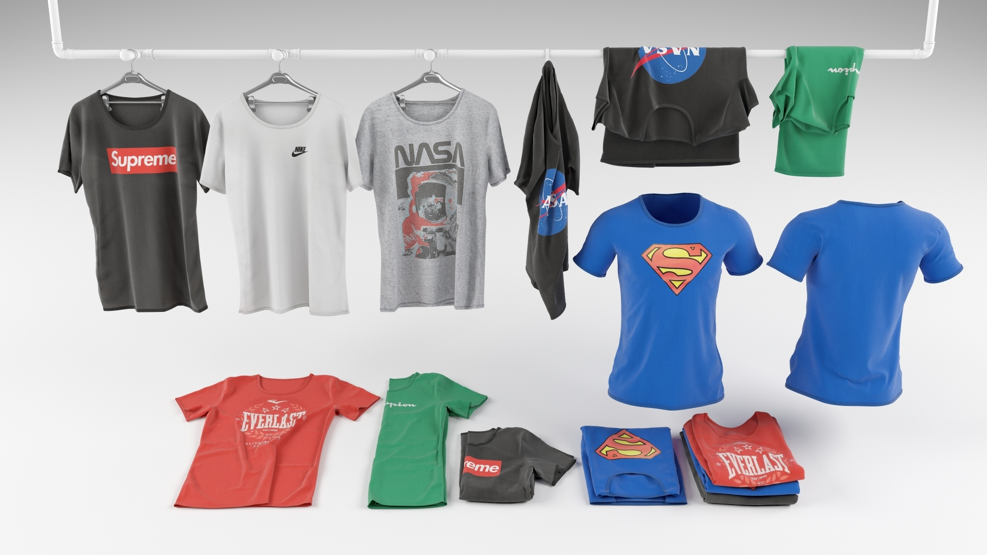 nike shirt 3d model