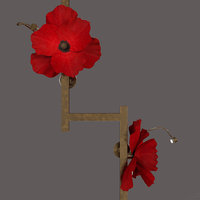 lure post poppies 3D model