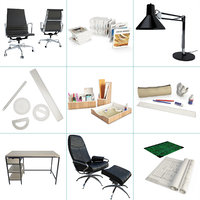 Architect Office Set of 19 3D model