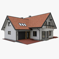 3D model european modern house