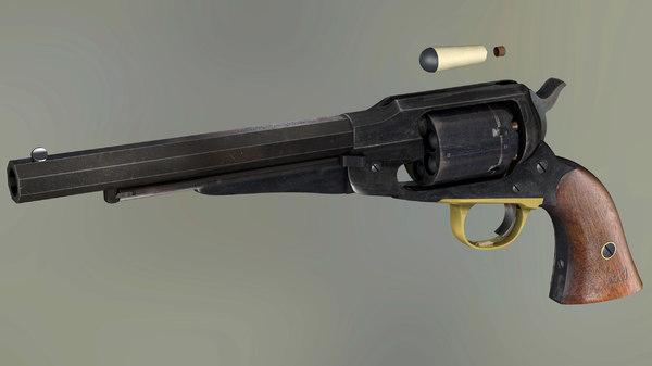 3D remington 1858 model