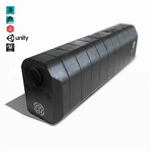 suppressor weapon attachment 3D model