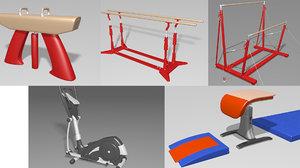 gymnastics pommel horse 3D model