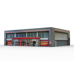 3D model super market building 2