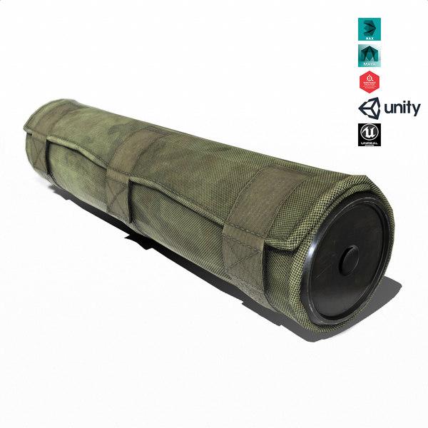 3D suppressor weapon attachment model