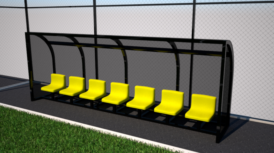 sport seating subs bench 3D