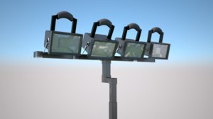 stadium flood lighting 3D model