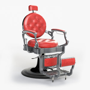 alesso professional barber chair 3D