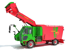 3D model strautmann fodder mixing truck