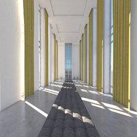 3D model lobby interior
