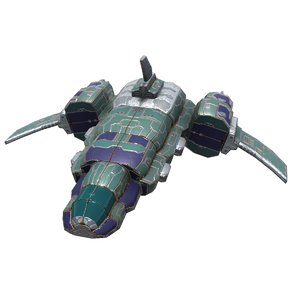 spaceships space bomber 3D model