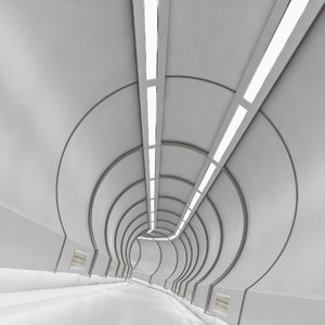 moduler sci-fi futuristic corridor 3D model