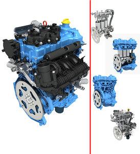 petrol engine 3D model