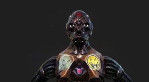 3D cyborg pbr - model